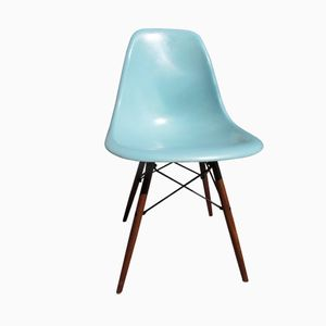 Robin's-Egg Blue DSW Chair by Charles and Ray Eames for Herman Miller
