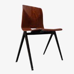 S22 stapelbarer, Zirkel-beiniger Stuhl von Galvanitas, 1970er