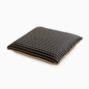 Paper/Nylon Cushion in Black & White by Trine Ellitsgaard