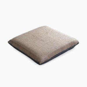 Paper/Nylon Cushion in Gray & Light Gray by Trine Ellitsgaard