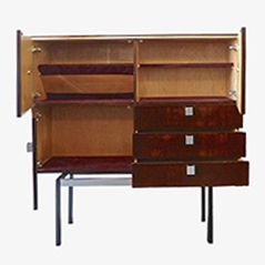 Belgian Rosewood Cabinet by Alfred Hendrickx, 1960s