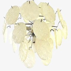 Vintage Ceiling Lamp with Acrylic Glass Panels