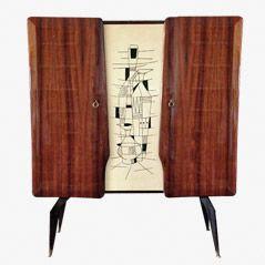 Vintage Italian Rosewood Cabinet, 1950s