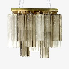 Glass Chandelier from J.T. Kalmar for Kalmar, Austria