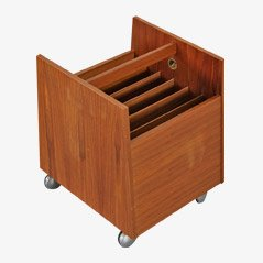 Danish Modern Teak Magazine Rack by Bagn, Norway