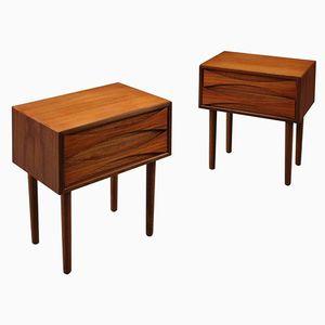 Danish Tall Teak Night Tables by Arne Vodder for Sibast, 1960s, Set of 2