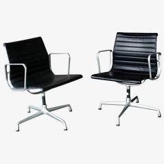 Chaises de Bureau EA108 par Charles & Ray Eames pour Vitra, Set de 2
