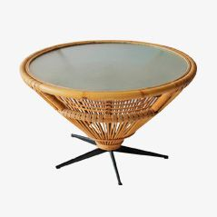 Mid-Century Rattan Coffee Table, c.1969
