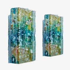 Chartres Glass Wandleuchten von A. Lankhorst für Raak, 1964, 2er Set