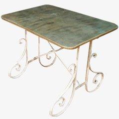 Table de Jardin avec Dessus en Zinc