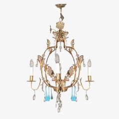 Gild Iron Chandelier, 1960s