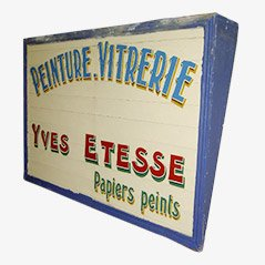 Bemaltes Holzschild aus Frankreich