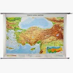 Vintage Physical Wall Map 'Turkey'