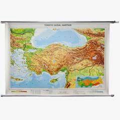 Vintage Physische Wandkarte 'Türkei'