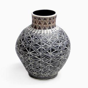 Dark Orb Vase by Dana Bechert