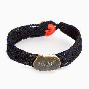 Bracelet Sculté Labrodite par Sara Beltrán, Mexique