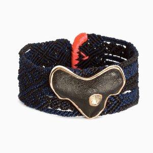 Shark Tooth Bracelet with Polki Diamond by Sara Beltrán