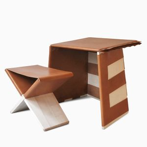 Writing Desk and Stool by Eric Benqué
