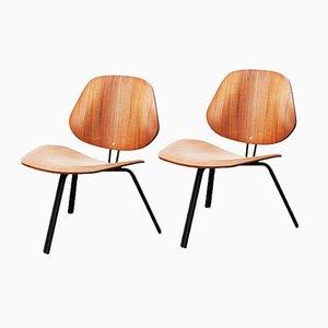 Niedrige P31 Nussbaum Stühle von Osvaldo Borsani für Tecno, 2er Set