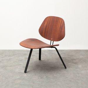 Niedriger P31 Stuhl in Palisander von Osvaldo Borsani für Tecno