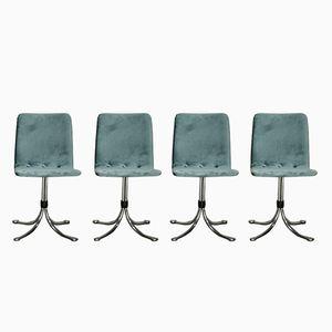 Samt Esszimmerstühle von Brabantia, 1960er, 4er Set