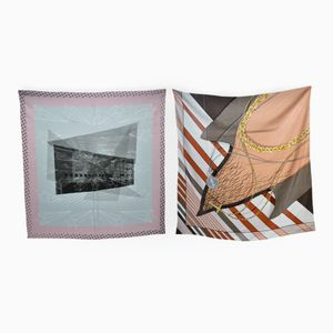 Neon Romance & Paolo Set of 2 Scarves by Briggs & Cole