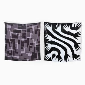 Sextet & Clap Set of 2 Scarves by Briggs & Cole