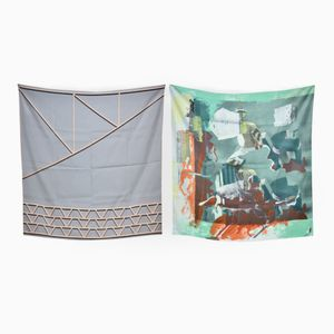 Grille & Trained Exteriors Set of 2 Scarves by Briggs & Cole