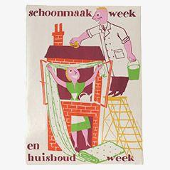 Affiche Vintage par Silvent, 1960s