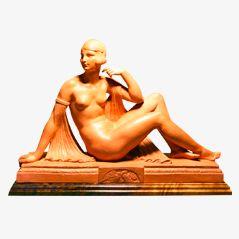 Art Déco Skulptur von Joe Descomps, ca. 1925