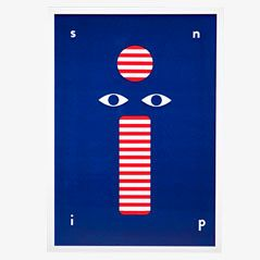 Poster con serigrafia di Stephanie Specht
