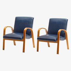 Vintage Plywood Chairs, 1950s, Set of 2