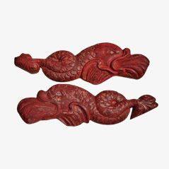Poissons Antique Folk Art, Set de 2