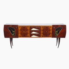 Italian Wooden Sideboard, 1970s