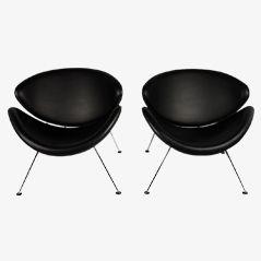 Orange Slice Stühle von Pierre Paulin für Artifort, 2er Set