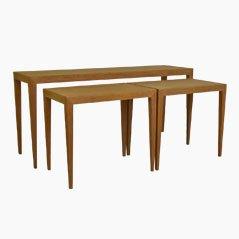 Oak Nesting Tables by Severin Hansen Jr. for Haslev Møbelfabrik, Set of 3