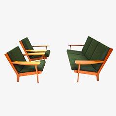 GE320 Sofa- und Sesselset von Hans J. Wegner für Getama, 1950er