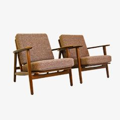 GE-233 Easy Chairs by Hans J. Wegner for Getama, 1950s, Set of 2