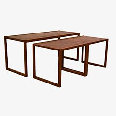 Tables Gigognes de Vildbjerg Møbelfabrik, Danemark, Set de 3