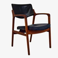 Chaise de Bureau Mid-Century par Erik Kirkegaard pour Høng Stolefabrik