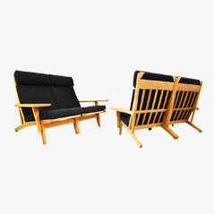 GE-375 Sofas by Hans J. Wegner for Getama, Set of 2