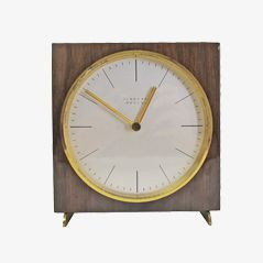 Vintage Table Clock by Max Bill for Junghans AG