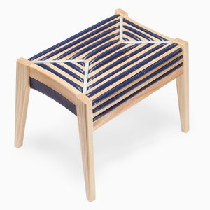 75 % Control Rectangular Stool, Navy-Colored Foam by Dafi Reis Doron