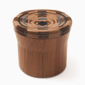 CAD Weaving Jar #2 en Noyer par Dafi Reis Doron
