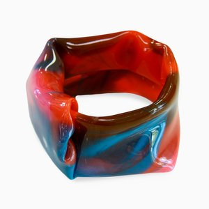 Polychrome Resin Bracelet 706 by Andrea Dasha Reich