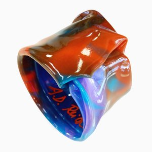 Polychrome Resin Bracelet 702 by Andrea Dasha Reich
