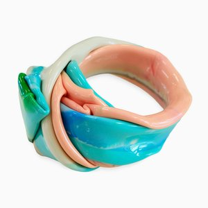 Polychrome Resin Bracelet 705 by Andrea Dasha Reich