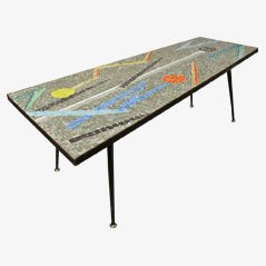 Asymmetric Mosaic Coffee Table, 1950s