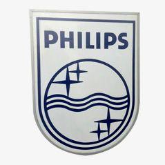 Vintage Industrielles Leuchtschild von Philips