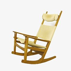 GE 673 Rocking Chair by Hans J. Wegner for Getama, 1980s